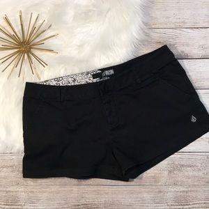 Volcom shorts black size 9